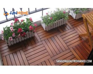Vỉ gạch gỗ nhựa ngoài trời lát sàn ban công, sân vườn bền đẹp tự nhiên