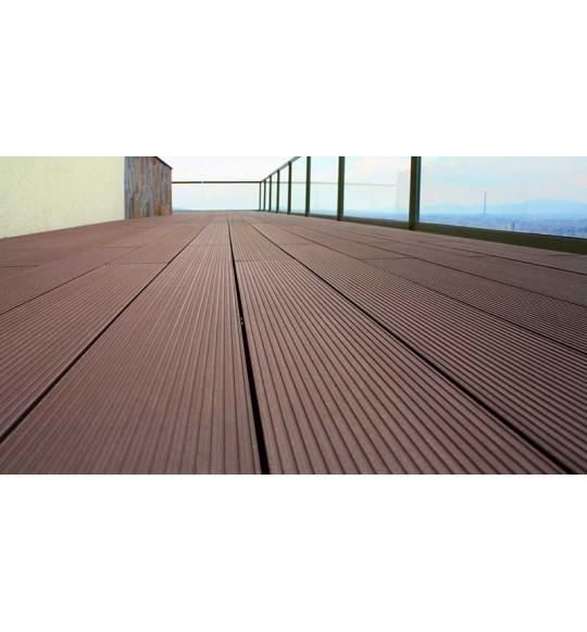 Sàn gỗ ngoài trời Hà Nội rẻ nhất với gỗ nhựa AWOOD WPC