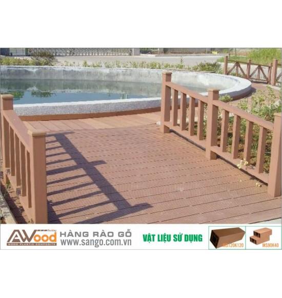 Hàng rào gỗ công viên Awood