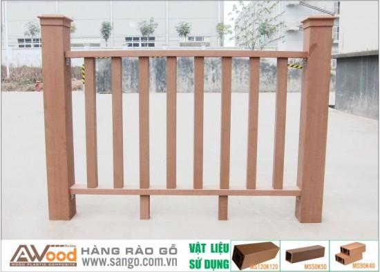 Hàng rào gỗ ngoài trời Awood