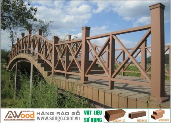 Hàng rào gỗ ngoài trời cầu cảng Awood