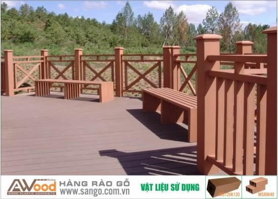 Hàng rào gỗ ngoài trời Hà Nội