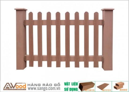 Hàng rào gỗ ngoài trời Hà Nội Awood