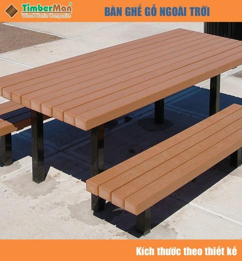 Bàn ghế ngoài trời sân thượng TimberMan GTM03