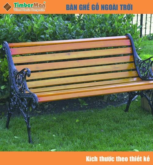 Ghế gỗ ngoài trời công viên TimberMan GTM07