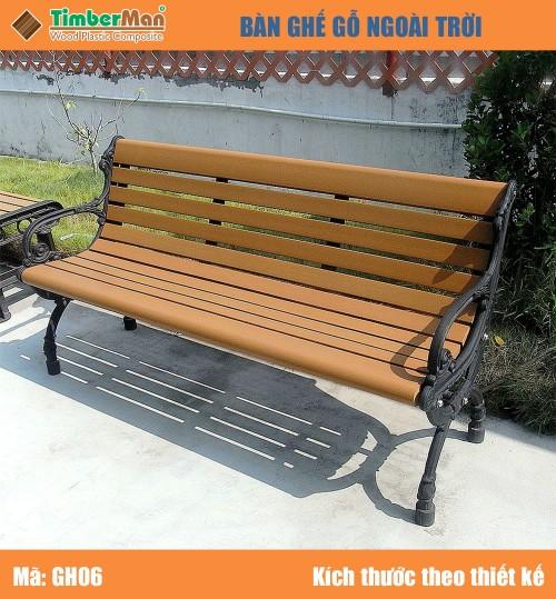 Ghế gỗ ngoài trời GH06 TimberMan