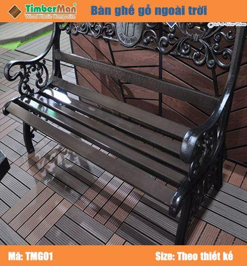 Ghế gỗ nhựa ngoài trời TimberMan TMG01