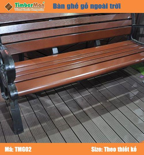 Ghế gỗ nhựa ngoài trời TimberMan TMG02