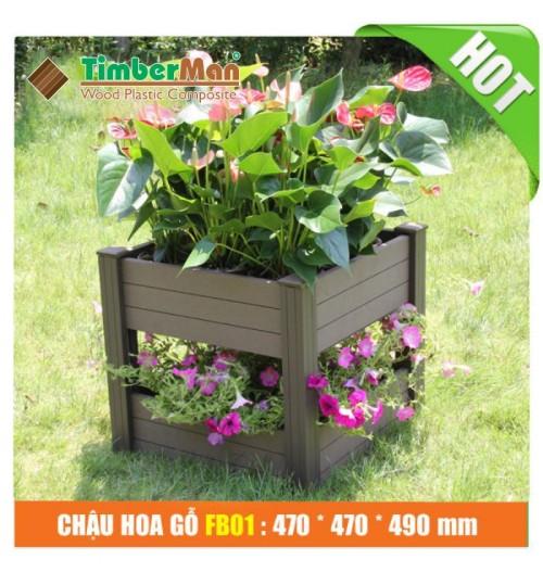 Chậu hoa gỗ ngoài trời FB01