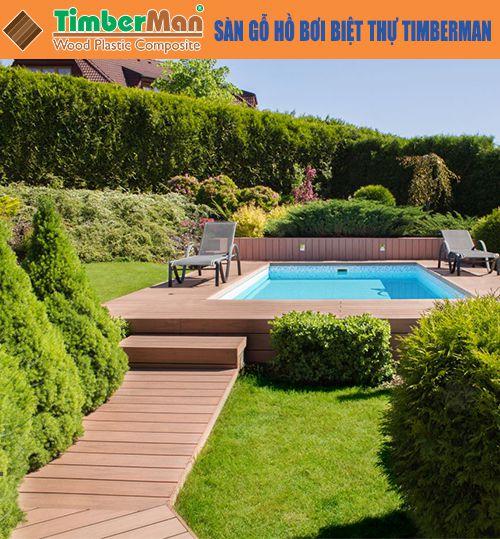 Sàn gỗ hồ bơi biệt thự Timberman