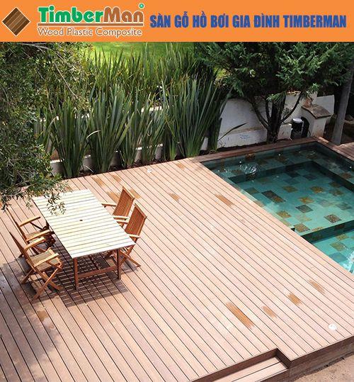 Sàn gỗ hồ bơi gia đình Timberman