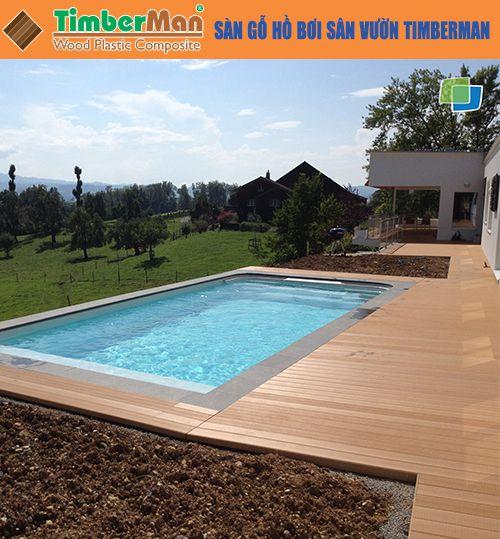 Sàn gỗ hồ bơi sân vườn Timberman