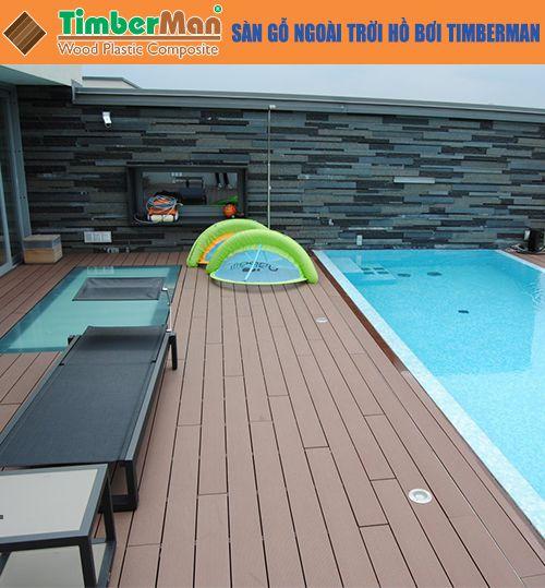 Sàn gỗ ngoài trời hồ bơi Timberman sân vườn