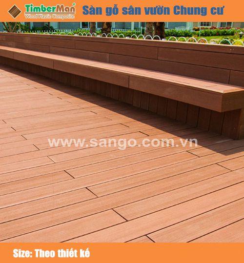 Sàn gỗ sân vườn chung cư