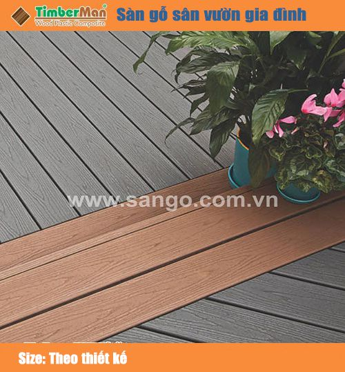 Sàn gỗ sân vườn gia đình