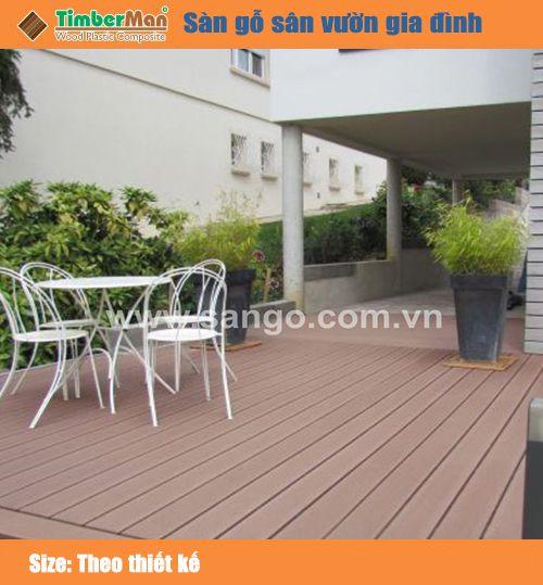 Sàn gỗ sân vườn gia đình TIMBERMAN TM140K25
