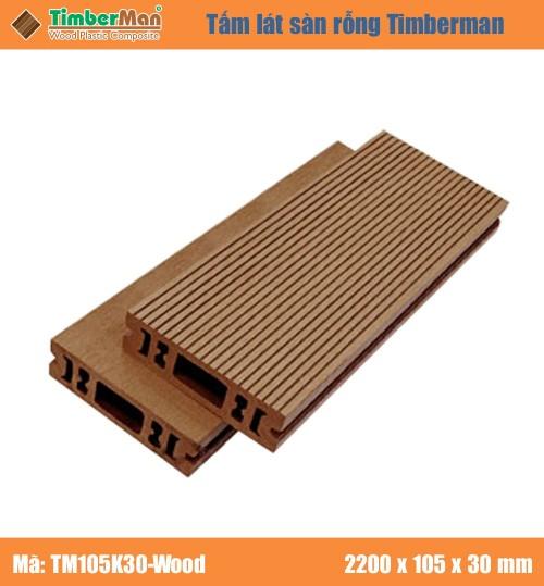 SÀN GỖ NGOÀI TRỜI HÀ NỘI TIMBERMAN - TM105K30 Wood