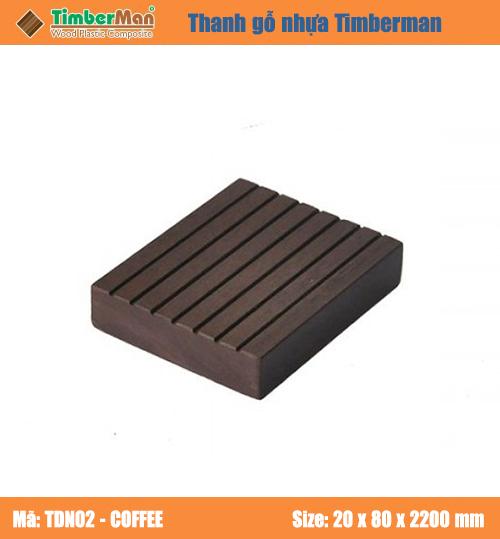 SÀN GỖ NGOÀI TRỜI HÀ NỘI TIMBERMAN - thanh gỗ nhựa TDN02 coffee