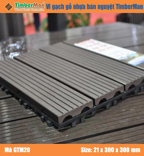 SÀN GỖ NGOÀI TRỜI HÀ NỘI TIMBERMAN - vi gạch gỗ nhựa Bán Nguyệt